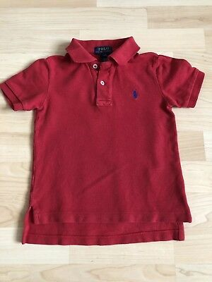Boys Ralph Lauren Polo Shirt Age 3 In Red