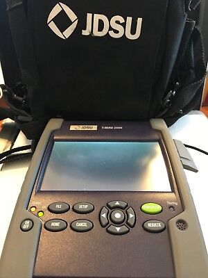 JDSU T-BERD 2000 Fiber Optic Multimode OTDR w/ Power Adapter, Carrying Case