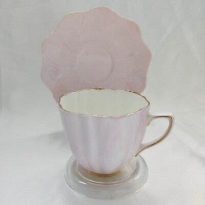 🌟 Old Royal & Paragon China Duo Tea Cup & Saucer Pale Pink Hn3483 England