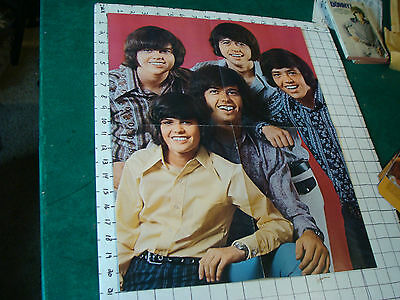 DONNY OSMOND Poster: folded 4 sheet OSMONDS, back w 1/4 of Giant Donny