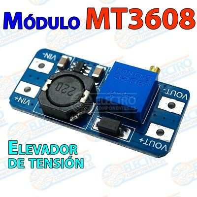 MT3608 Modulo elevador de tension 2v-24v 5v-28v ajustable Step Up Boost 2A DC-DC