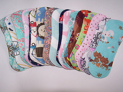 HM 10 Reusable Cloth Menstrual Panty Liners without wings 8 inches &1 wing