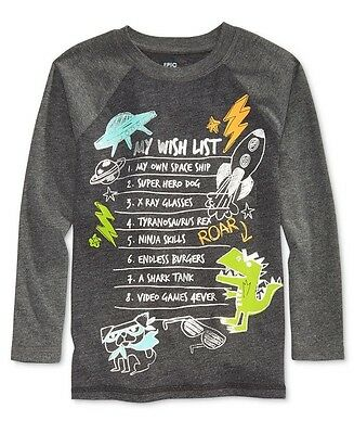 New-Size 4/4T-Epic Threads-Boy Long-Sleeve T-Shirt-My Wish List-Spaceship-Rocket