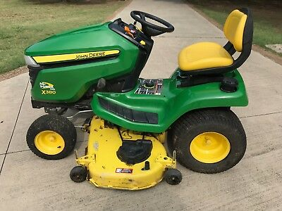John Deere X380 Lawn Tractor Less than 60 hours,54 inch Cutting Deck $4700 MSRP