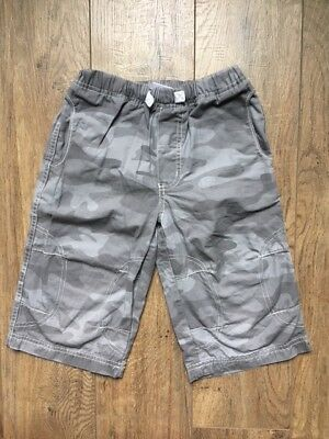 Hanna Andersson Camo Shorts Gray Grey Boy Size 120 or US 6-7