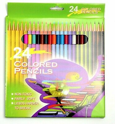 Set of 12 assorted Colouring Pencils Children Kids School Artwork Drawing Gift