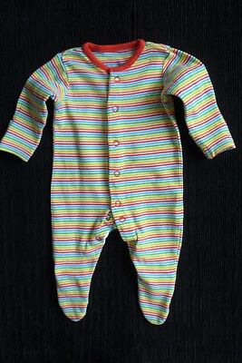Baby clothes UNISEX BOY GIRL premature/tiny<7.5lbs/3.4kg bright stripes babygrow