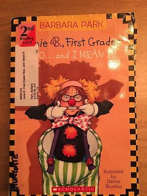 Set of 4 Junie B., First Grader Boo...and I mean it! by Barbara Park Paperback
