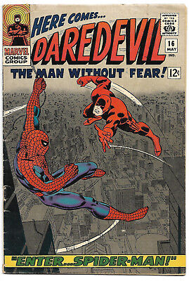 DAREDEVIL #16, #17 SET! Spider-Man X-Over 1st Romita art on Spidey Classic Cover