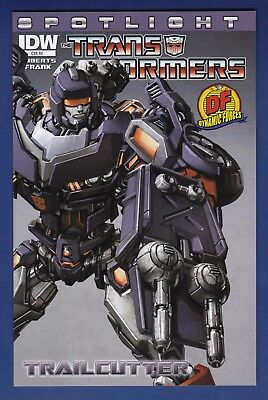 Transformers Spotlight : Trailcutter  RE DF Variant cover 1/550 w/COA 2013 IDW