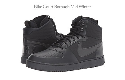 Nike Mens Black Court Borought Mid Winter Shoes Sneakers Size 10 Medium (D,  M fd9750f4f1