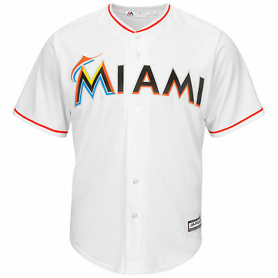 MLB Miami Marlins Majestic Replik Cool Base Heim Trikot Sport Shirt Kinder