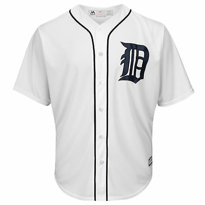 MLB Detroit Tigers Majestic Replik Cool Base Heim Trikot Sport Shirt Kinder