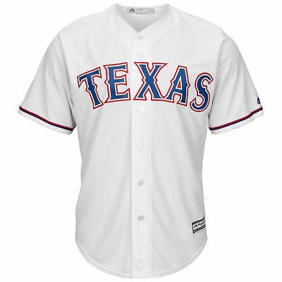 MLB Texas Rangers Majestic Replik Cool Base Heim Trikot Sport Shirt Kinder