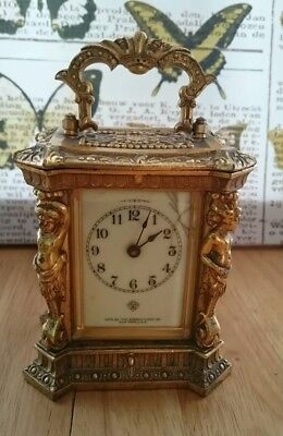 Antique Ansonia Carriage Mantel Clock