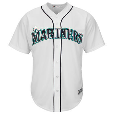 MLB Seattle Mariners Majestic Replik Cool Base Heim Trikot Sport Shirt Kinder