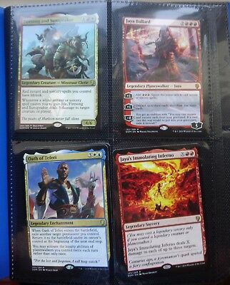 Magic the Gathering binder of mythic, rare and uncommons