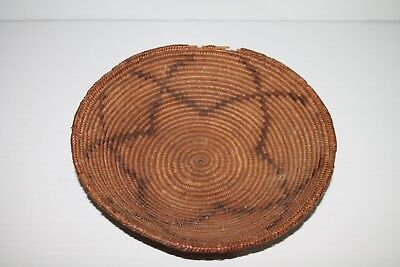 Antique woven Star pattern Native American basket Havasupai mission Paiute