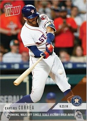 2018 Topps NOW MLB 360 Carlos Correa 12th-Inning, Walk-Off Single Seals Victory