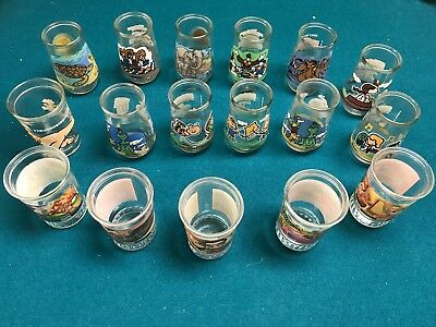 Lot of 17 Vintage Welchs Jelly Glasses Disney, Dr. Seuss, Nickelodeon, Animals