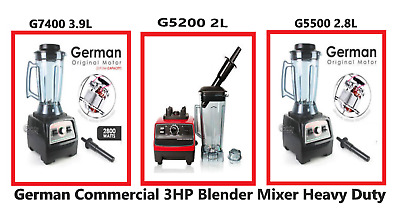 German Commercial 3HP Blender Mixer 2L / 2.8L / 3.9L HEAVY DUTY Ice Crusher 2200