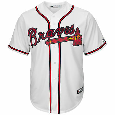 MLB Atlanta Braves Majestic Replik Cool Base Heim Trikot Sport Shirt Kinder