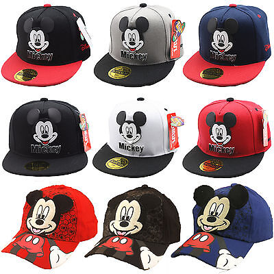 Kids Boys Girls Mickey Minnie Mouse Baseball Cap Outdoor Sports Snapback  Sun Hat c1a8a6d78d80