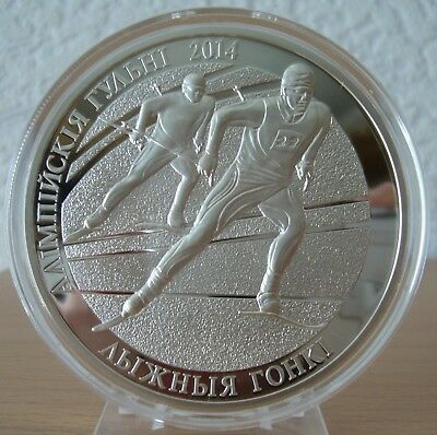 Belarus 100 Rubles 2012 The 2014 Olympic Games. Cross-country Skiing