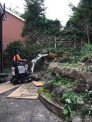 Micro Digger Hire With Driver 1 Ton Loughborough Leicester Notts Fully Insured