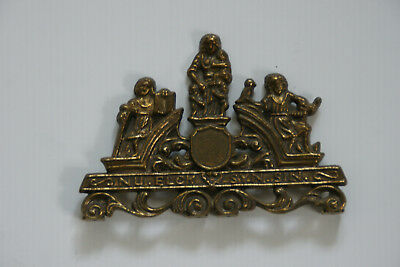 Architectural Brass Dutch Wall Clock Plaque - Nu Elck Syn Sin Spare Part