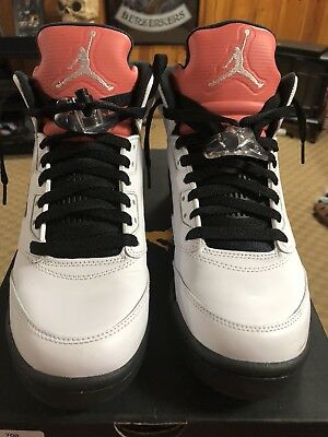 db5d90f824ee Nike Air Jordan Retro 5 V Sunblush SZ 8Y GS Salmon Tongue White 440892-115
