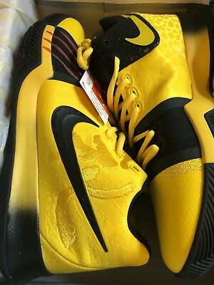 best service a90bc 90b55 KYRIE 3 IRVING Black Mamba Mentality Black/Yellow Bruce Lee Size 9