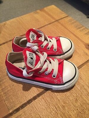 Size 5 Red Converse Toddler Boy Or Girl Immaculate Condition