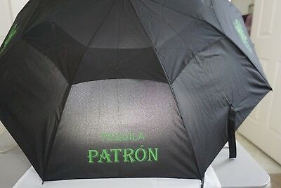 Patron - Black Umbrella With Name & Logo - Well Made ***new***