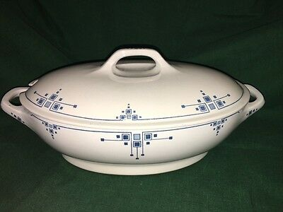 German Art Deco Bauhaus Villeroy Mettlach ELLY China Soup Tureen Serving Dish