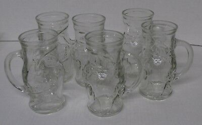 Vintage Frostie Root Beer Glass Mugs Set of 6 - s11a