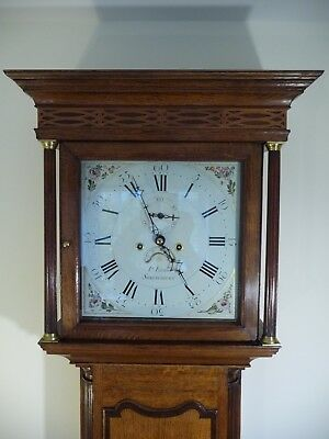 """Oak Longcase 8 day Clock with white 13"""" dial made by 'Pryce Evans of Shrewsbury"""