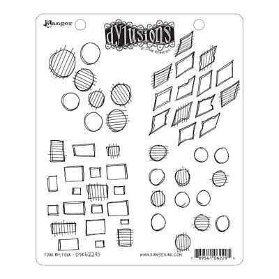 NEW Dyan Reaveleys Dylusions Cling Stamp Collections 8.5x7 Four By Four