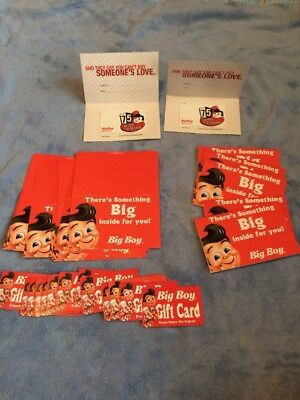 Big Boy - Lot of 17 USED gift cards
