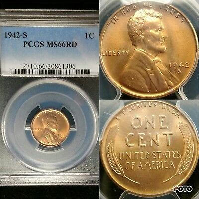 1942-S PCGS MS66 Lincoln Cent Wheat Penny