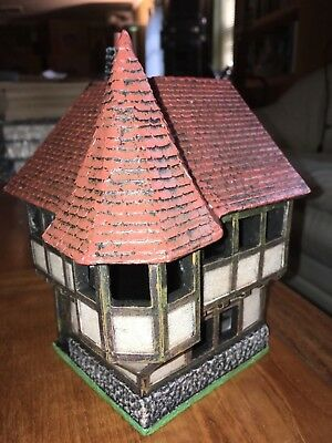 MINIATURE BUILDING AUTHORITY 28mm TURRET CORNER HOUSE II NEW! Dwarven Forge  D&D