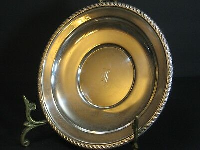 "Vintage Preisner Solid STERLING SILVER Serving Plate Tray Gadrooned Rim, 7.25""W"