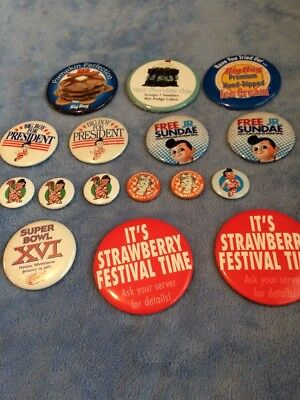 Big Boy Collectible Buttons - Bundle Of 16