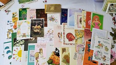 Vintage American Greeting Cards Assorted Greeting Cards/Envelopes-unused-lot 34