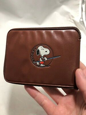 1958 Peanuts Character Snoopy Brown Javelin Throwing Collectors Promo Wallet