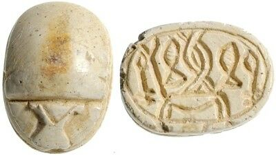 Ancient Egyptian Scarab (c. 1590- 1070 BC) Plus Scarab Reference Book