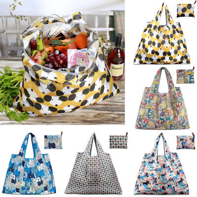 Unisex Foldable Handy Shopping Bag Reusable Tote Pouch Recycle Storage Handbags