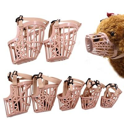 Large Medium Small Dog Basket Muzzle PE Plastic Cage No Barking Biting Chewing