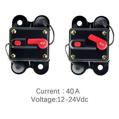 12V-24V DC Circuit Breaker Inline Fuse Inverter Waterproof Manual Reset 40 Amp