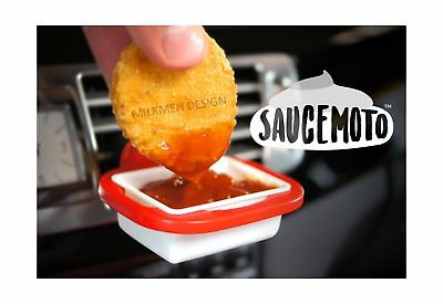 2 Pack, Gray An in-car sauce holder for ketchup and dipping sauces. Saucemoto Dip Clip